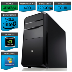 PC NEUF Core i5 4Go 120Go SSD Geforce 1Go