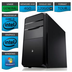 PC NEUF MSI Core i3 4Go 120Go SSD