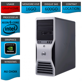 Location DELL PRECISION Xeon 6 Cores 16Go 600Go SAS
