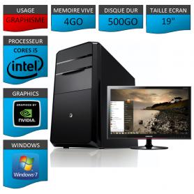 "PC NEUF MSI Core i5 4Go 500Go GeforceGT4Go 19"""