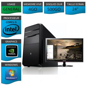 "PC NEUF MSI Core i5 4Go 500Go GeforceGT1Go 24"""