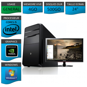 "PC NEUF MSI Core i5 4Go 500Go GeforceGT2Go 24"""