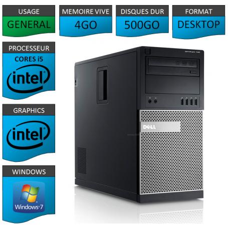 Dell Optiplex 790 Core i5 4Go 500Go