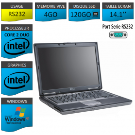 Portable neuf Windows XP Pro Port Serie 4Go 120SSD