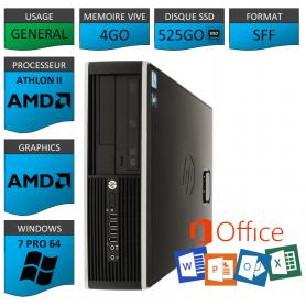 HP AMD Athlon II 4Go SSD525 W7P OFFICE