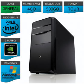 PC NEUF Windows XP Pro i3 4Go 500Go Geforce 1Go