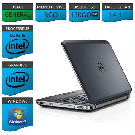 Dell latitude e5430 8Go SSD130 Windows 7 Pro 64