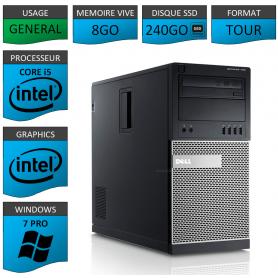 Dell Optiplex 990 i5 8Go SSD240 Windows 7
