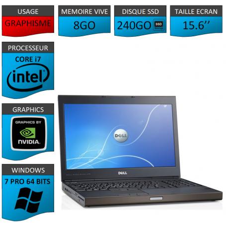 Dell Precision 8Go 240SSD Windows 7 Pro 64 bits