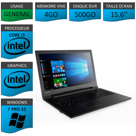 Portable NEUF Lenovo Core i3 Windows 7 Pro 32 bits