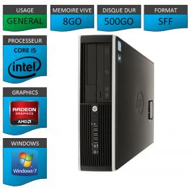 PC HP Elite Core i5 8Go 500Go Windows 7 pro
