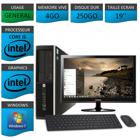 HP Core i5 19 GARANTI 3 ANS