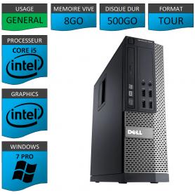 Dell 7010 Core i5 8Go 500Go Windows 7 Pro