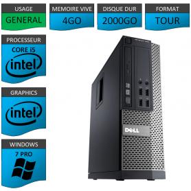 Dell 7010 Core i5 4Go 2000Go Windows 7 Pro