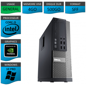 Dell Core i5 4Go 500Go Windows 10 Pro Geforce