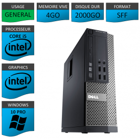Dell Core i5 4Go 2000Go Windows 10 Pro