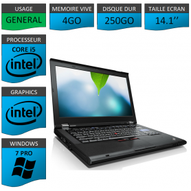 Thinkpad T420 Core i5 4Go 250Go Windows 7