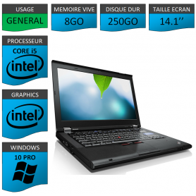 Thinkpad T420 Core i5 8Go 250Go Windows 10