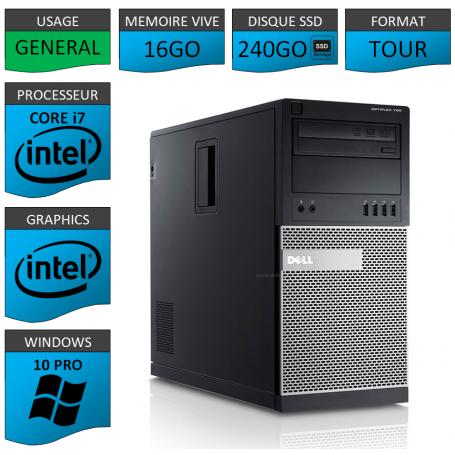 Dell Optiplex 790 Core i7 16go 240SSD Windows 10 Pro