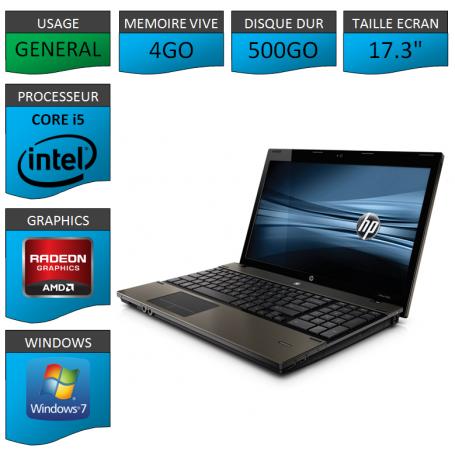 HP Probook 4720s i5 4Go 500Go Windows 7 Pro