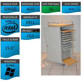 Classe Mobile 16 Ordinateurs Portables DELL VOSTRO 15.6 NEUF 4 500 W10
