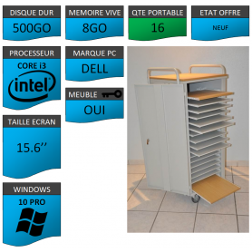 Classe Mobile 16 Ordinateurs Portables DELL VOSTRO 15.6 NEUF 8 500 W10