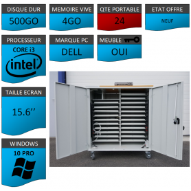 Classe Mobile 24 Ordinateurs Portables DELL VOSTRO 15.6 NEUF 4 500 W10