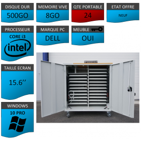 Classe Mobile 24 Ordinateurs Portables DELL VOSTRO 15.6 NEUF 8 500 W10