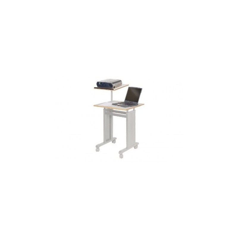 table projecteurpc portable 4 roulettes gris clair 78350. Black Bedroom Furniture Sets. Home Design Ideas