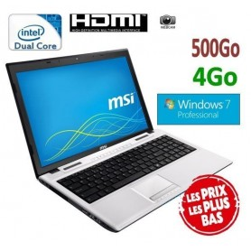 "MSI 15.6"" Windows 7 Pro 32 bits GARANTI 1 AN"