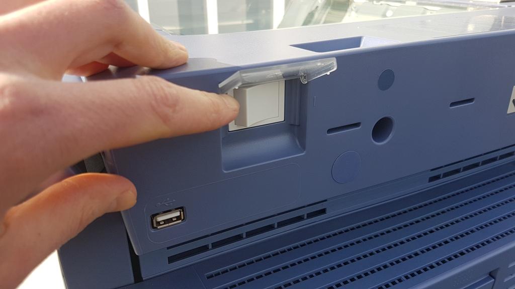 bouton droit pavé tactile