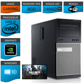 Dell Optiplex 990 Tour Gaming 8Go SSD240 GEFORCE GT730 1Go