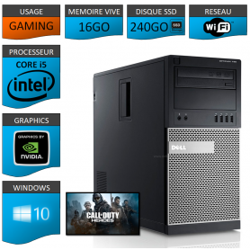 Dell Optiplex 990 Tour Gaming 16Go SSD240 GEFORCE GTX 1050 2Go
