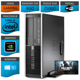 HP Elite 8100 Core i5 Tour Gaming 8Go 250Go GEFORCE GT710 2Go