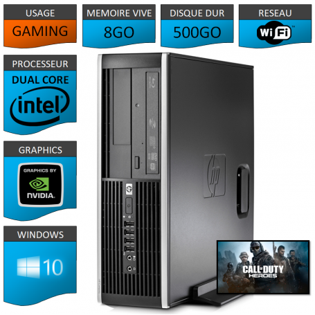 HP Elite 8300 Tour Gaming 8Go 500Go GEFORCE GT730 1Go