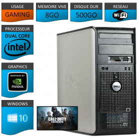 DELL Optiplex 380 Tour Gaming 8Go 500Go GEFORCE GT730 1Go