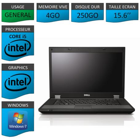 DELL Latitude e5510 4Go 250Go Windows 7 Pro Port Serie