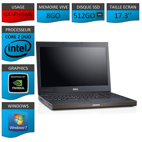 Portable Dell Precision 8Go 512SSD Windows 7 Pro 64 bits Nvidia Quadro