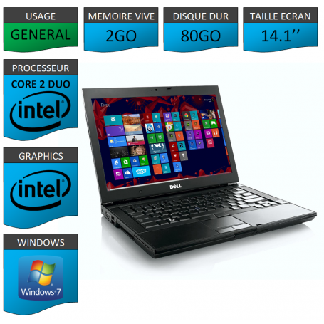 Portable Dell Intel Core 2 Duo Windows 7 Pro 64 bits