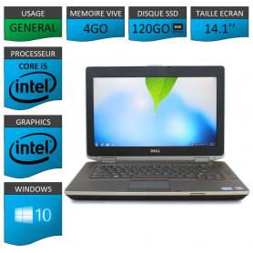 Portable Dell e6420 4Go 120SSD Intel Core i5 Windows 10 Pro 64 bits HDMI