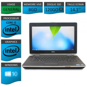 Portable Dell e6420 8Go 120SSD Intel Core i5 4 Coeurs Windows 10 Pro 64 bits HDMI