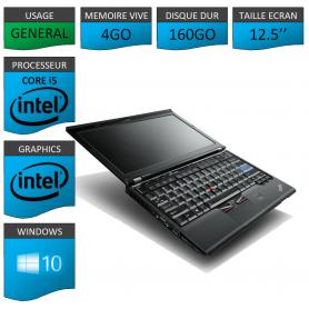 Lenovo X220 4Go 160Go Windows 10 Pro 64