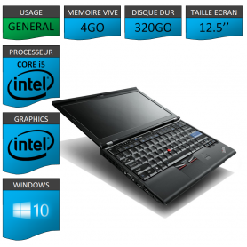 Lenovo X220 4Go 320Go Windows 10 Pro 64