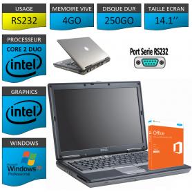 Ordinateur Portable Port Serie 4Go 250Go Office Pro 2013