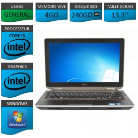 DELL Latitude e6320 4Go SSD240Go Windows 7 Pro 32 Port HDMI