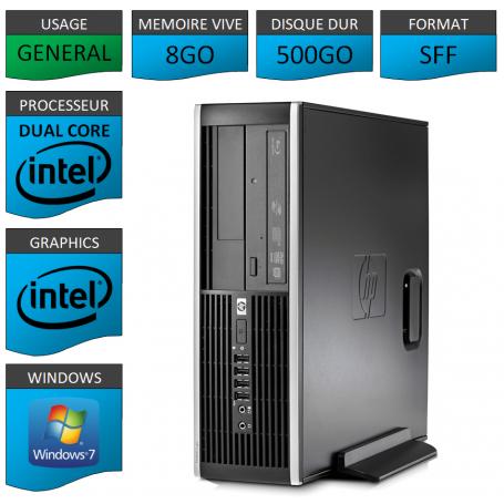 HP Elite 8300 8Go 500Go W7P