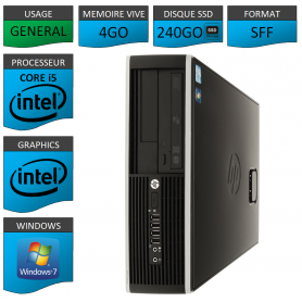 HP Core I5 SSD 240Go Windows 7 Pro 64 bits