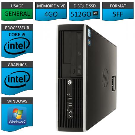 PC HP Core i5 500Go SSD 10 fois plus rapide