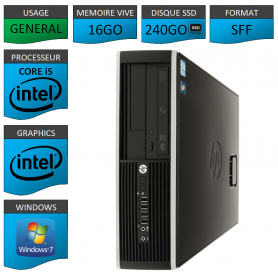 PC HP Core i5 16Go 240Go SSD Windows 7 Pro