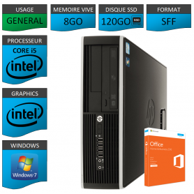 PC HP Core i5 8Go 120Go SSD OFFICE BUSINESS